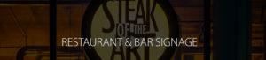 Restaurant & Bars Signage Header Image
