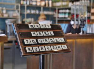 restaurant and bar signage image 22