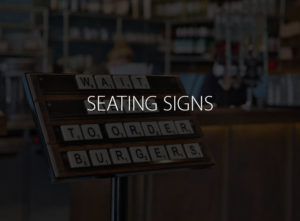 Seating Signs