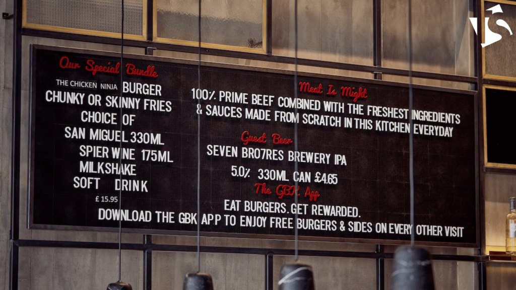 menu boards thrive in the hospitality industry