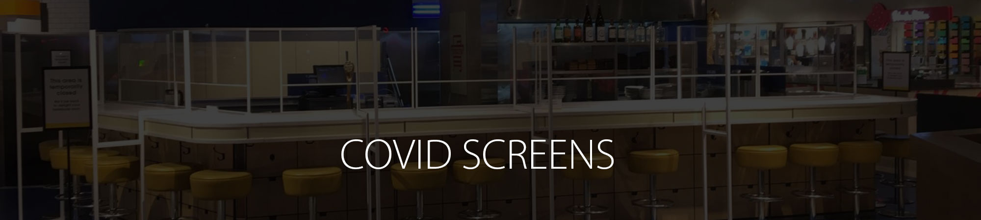 Covid Screens for Offices and Restaurants Page Header Image