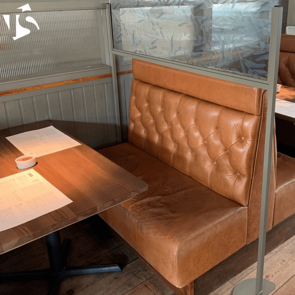 Safety screens can fit your restaurant interior
