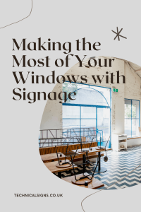 Example of window sign designs