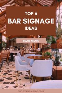 Blog Post Advertising Top 6 Bar Signage Ideas